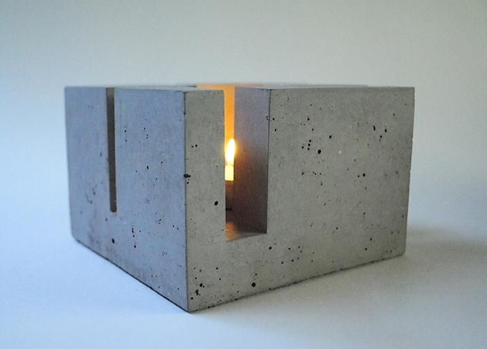Beton und Teelicht - stövchen t_Licht