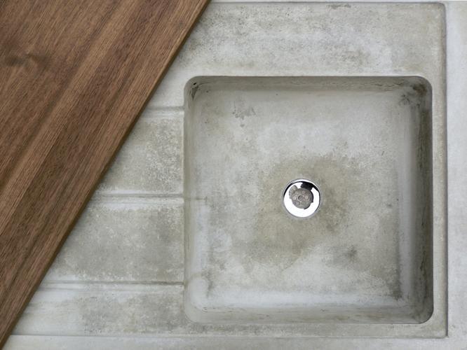 betonware, Küche k_1, Betonküche, Küche, Küchenausbau, Beton, Eiche