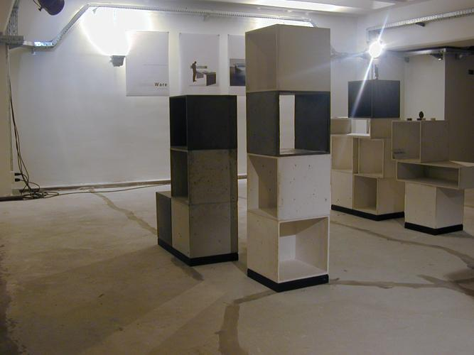 betonware, Würfel, Kubus, Regal, Sitz, Tisch, Nachttisch, Betonmöbel