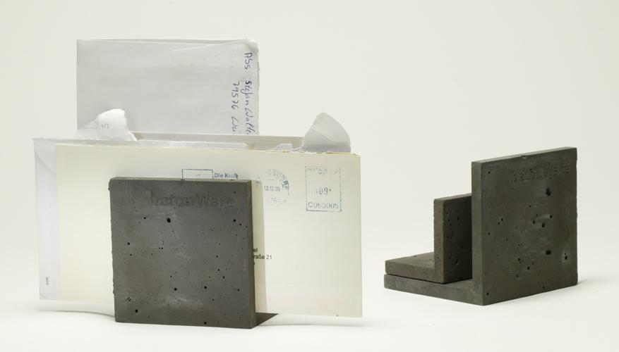 betonware, briefStütz, Accessoir, Tisch, Schreibtisch, beton, Ordnung