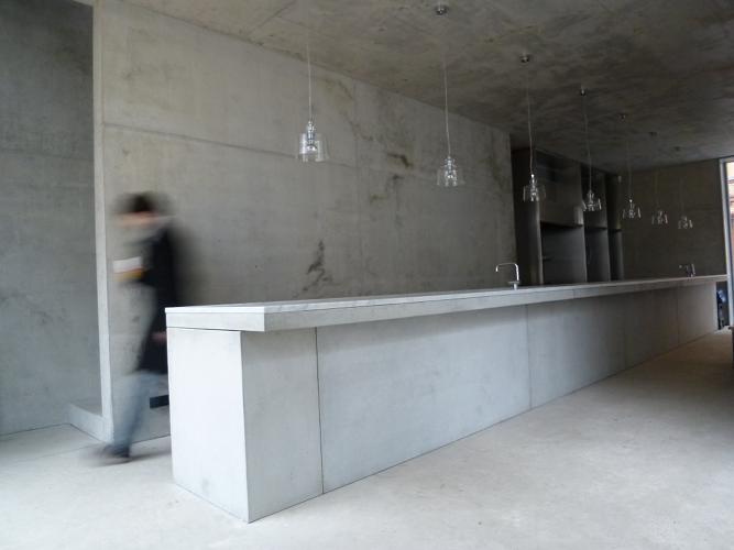 chipperfield, betontresen, tresen, gastro beton, restaurant beton