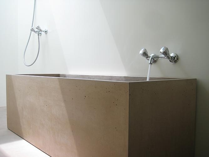 Sonderanfertigung Beton, Badewanne, btob-Architekten