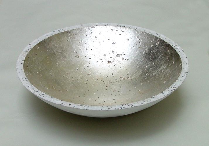 Betonschale Gold Silber