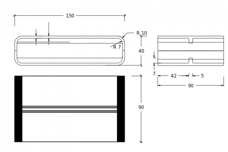 betonware, Betontisch, Tisch cT, Fertigteil, Betonmöbel, coffe table