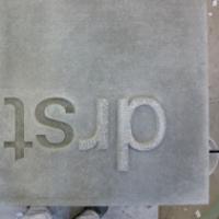 beton, typo, schrift, schriftzug, relief, abdruck, zeichen, logo, typografie